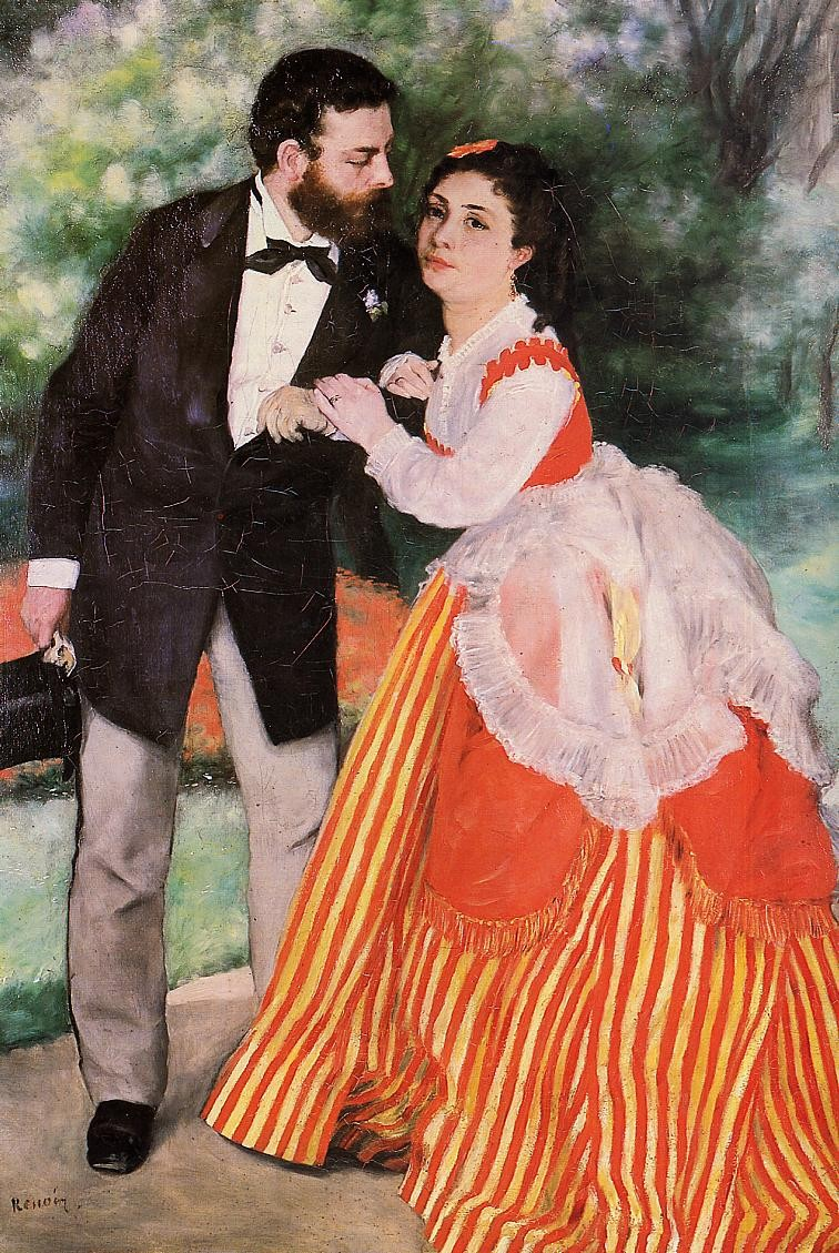 Alfred Sisley with His Wife, 1868 Pierre Auguste Renoir
